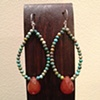 turquoise &amp; aventurine hoops