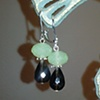 smoky quartz &amp; green drops