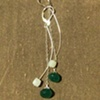 emerald &amp; blue chalcedony 2 danglies