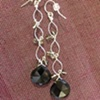black spinel &amp; grey quartz twists