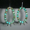 turquoise hoops
