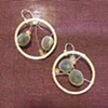 walaweka seeds &amp; tourmaline hoops