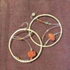 carnelian, aventurine, smoky quartz hoops