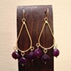 purple chalcedony &amp; gold filled teardrops