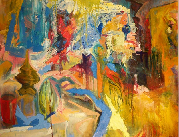 Erika Stearly, Oil on Canvas, Domestic Spaces, HACC, The Great Indoors