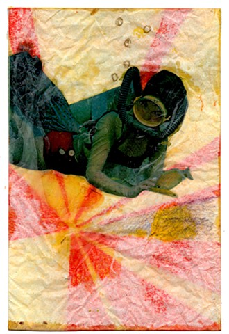 encaustic collage, erika stearly, collage, encaustic, artist in residence, encaustic painting, encaustic, small painting