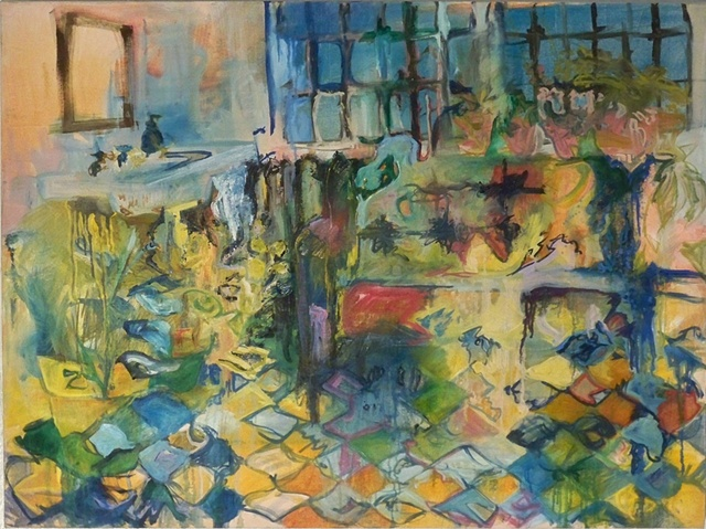 Erika Stearly, Oil on Canvas, Domestic Spaces