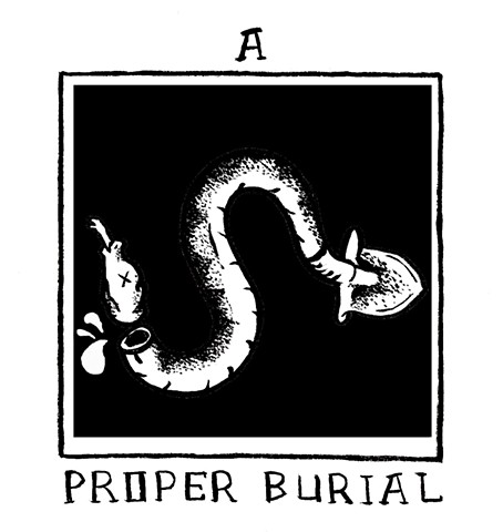 Logo for Director Tucker Bennett's film production A Proper Burial