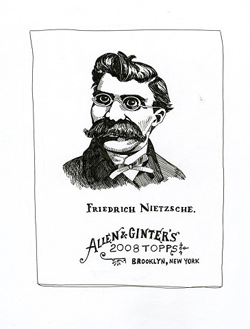Friedrich Nietzsche (Topps/Allen & Ginter 2008)