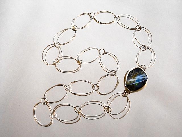 Can Opener Chain w/ Australian Boulder Opal