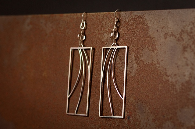 Wire Wave Earrings