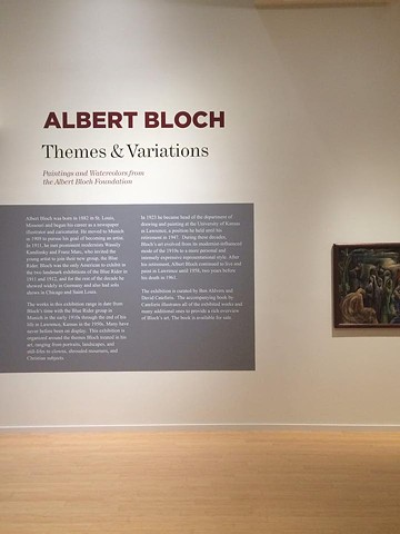 Albert Bloch. Themes and Variations.