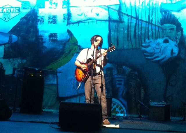 Grant Hart of Husker Du performs with local performers
