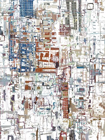 digitally erased abstract acrylic painting by Jay Hendrick