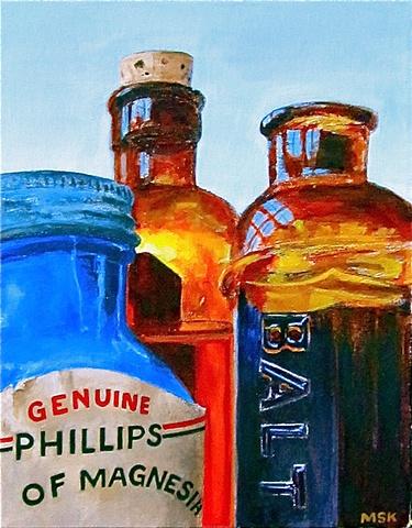 Pop's Old Medicine Bottles