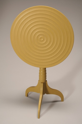 YELLOW PEDESTAL TABLE (detail)