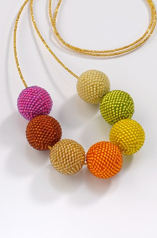 Warm Tone Beaded Beads