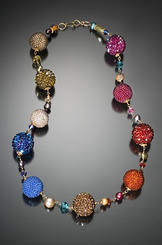 Linked Beaded Bead Necklace