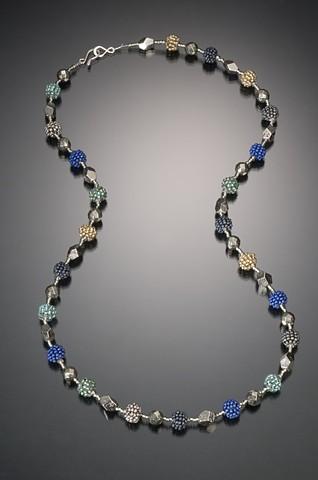 Tiny Beaded Bead Necklace