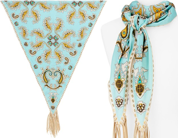 Paisley Diamond Aqua