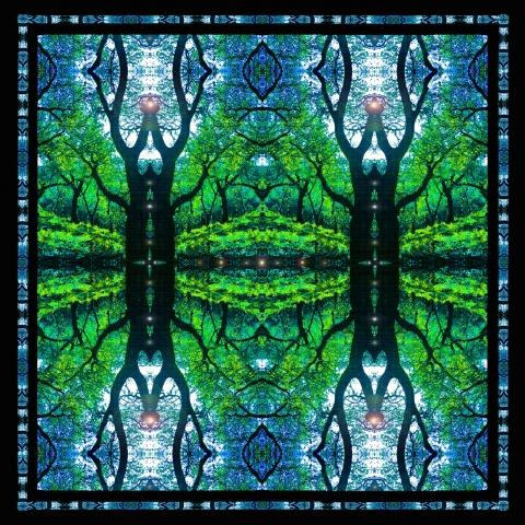 oak tree mandala, earth dreams, altar art