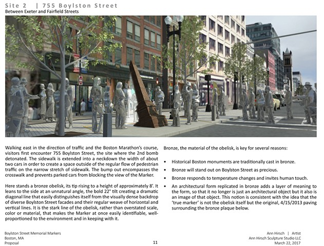 Boston Marathon Bombings Memorial Markers Proposal