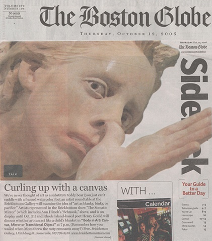 "Boston Globe Sidekick ""Curling up with a canvas"" By Jim Foritano October 12, 2006"