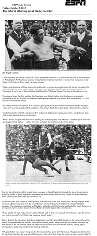 ESPN The rebirth of boxing great Stanley Ketchel by Nigel Collins Page 1 Friday, October 2, 2015