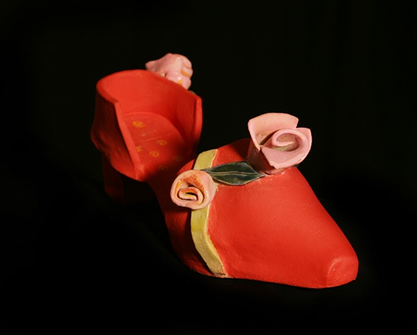 An elegant clay shoe to wear out on the town