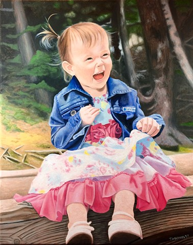 This is a portrait of the granddaughter of a close friend of mine.
