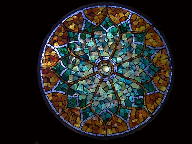 Stained Glass Mosaic Mandala Arabian Night by David Chidgey