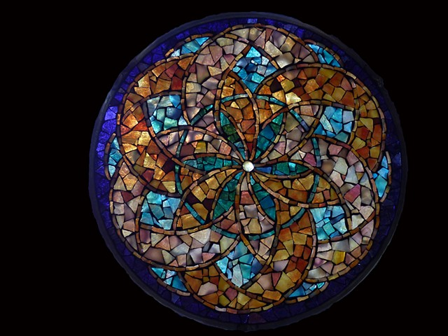 Stained Glass Mosaic Mandala Circle of Life by David Chidgey