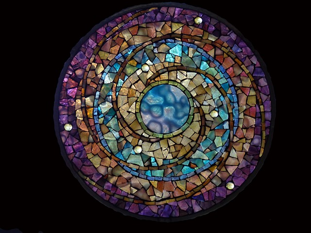 Stained Glass Mosaic Mandala by David Chidgey