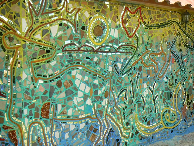 Garden Mosaic Wall Wildlife Mosaic Zagar Workshop Austin Texas