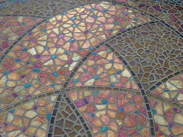 Garden Mosaic Detail of Circle of Life by David Chidgey