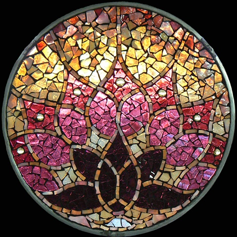 Stained Glass Mosaic Mandala Awakening by David Chidgey