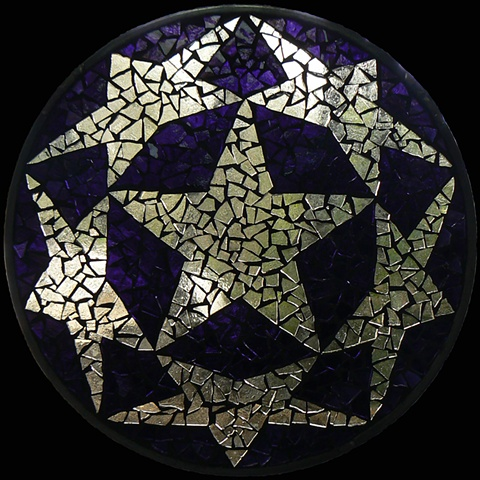 Stained Glass Mosaic Mandala Star Circle by David Chidgey