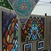 Art Glass Mosaic Print Display at the King William Fair several years ago 