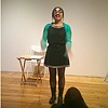 Singing Moon-faced Typecast at the  Bronx Art Space, NY, 2012