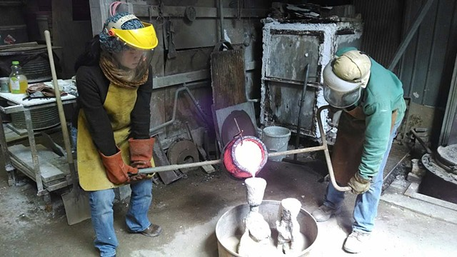 Pouring Bronze with Dexter Benedict at Fire Works Foundry