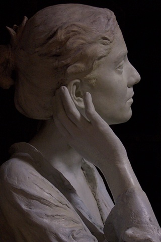 female bust sculpture