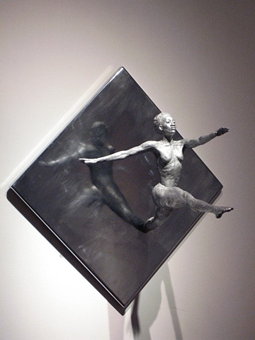 Out of the Abyss, cold cast aluminum resin on chromed wall mount