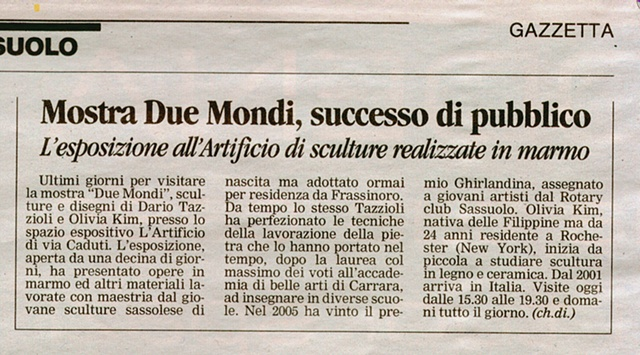 Due Mondi: news article