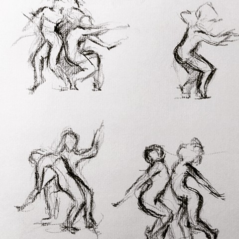 Sketches of Futurpointe dancers