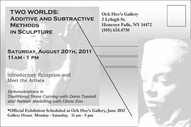 Two Worlds: Additive and Subtractive Methods in Sculpture, back