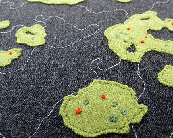 upcycled wool nature artwork by chelsea clarke