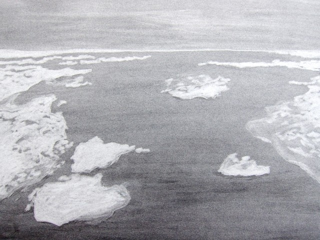 arctic landscape drawing of ice floes from a woods hole oceanographic institution research cruise by chelsea clarke