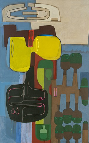 "David Storey, ""Yellow Jacket,"" 2012, 70""x38"""