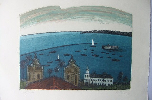 BAHIA, engraving,  modern brazilian contemporary art.
