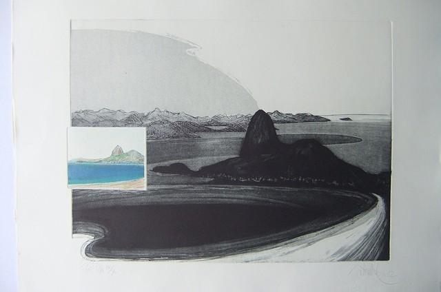 BAHIA, engraving modern brazilian contemporary art.